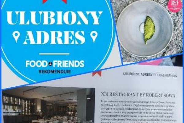 N31 otrzymało rekomendację Food&Friends!