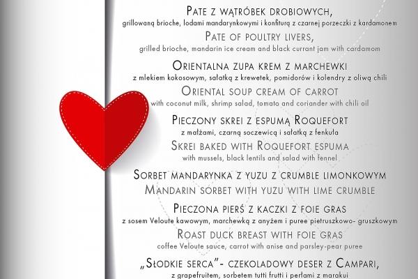Miłosne menu na Walentynki w N31!